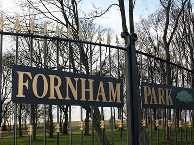 Fornham Park entrance