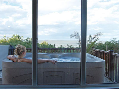 The view from your hot tub at Azure Seas