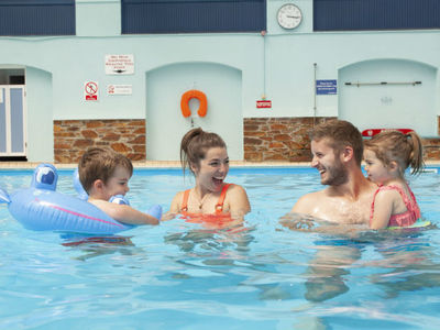 Looe Bay Holiday Park family fun in the pool
