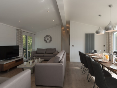 A spacious living area in one of our lodges