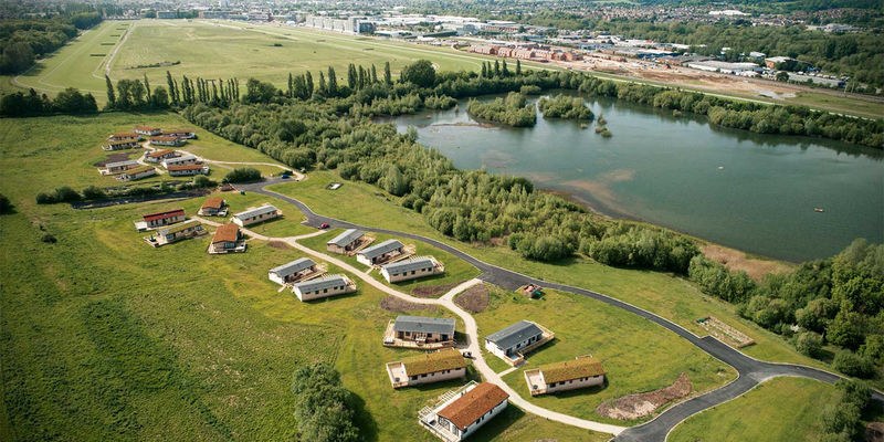 Cherry Bird Country Park aerial view