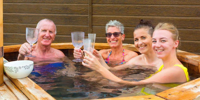 Nothing like a hot tub at the end of a busy sightseeing day!