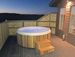 Larkrise Farm Lodges Westfield Lodge Hot Tub