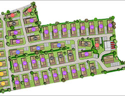 The Poplars Burnham Market site plan